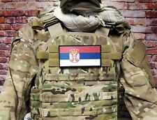 """3x6"""" Serbian Serbia Serb Hook Back Morale Patch For Body Armor Plate Carrier"""