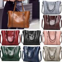Luxury Oil Wax Leather Women Handbag Shoulder Bag Messenger Large Tote Bags
