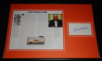 Cale Yarborough Signed Framed 12x18 Photo Display