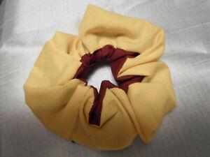 HANDMADE SCRUNCHIE wine gold hair wrist accessory hair tie inside 2 color USA