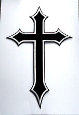P5 LARGE Knights Templar Iron on Patch Crusader St George Biker Crusade Cross