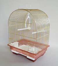 Cage Small Birds Finches Canaries Feeder Seats Plastic Swing Hook Bird Pet Gold
