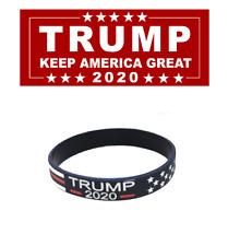 1 Trump Bracelet 2020 for President - Keep America Great - Silicone Bracelet