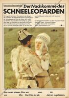 """DDR Progress Filmplakat A3 Der Nachkomme des Schneeleoparden 1985 """"ungeknickt"""""""