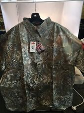 REDINGTON PALM BATIK PRINT CASUAL SHIRT SIZE XL -  SAGE - NEW - MSRP $50