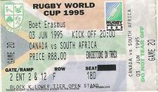 Canada v South Africa 3 Jun 1995 RUGBY WORLD CUP TICKET Port Elizabeth