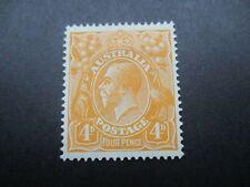 KGV Stamps: 4d Orange Single Watermark Mint  - Great Item (d47)