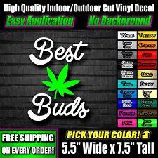 Best Buds Weed Leaf Sticker Decal JDM Truck Bumper Parts Accessories THC CBD 420