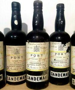 porto 2x SANDEMAN 1947 VINTAGE PORT millésime bouteille 70cl portwein wine wein