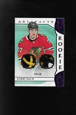 2019-20 Artifacts Kirby Dach Dual Relic Rookie Card   19/49