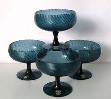 4 Mid Century Scandinavian Glass Bowls, Gullaskruf Glasbruk.