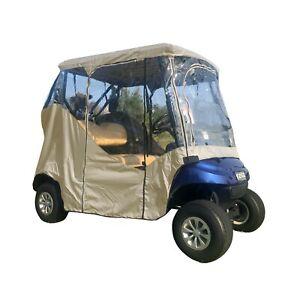 2 Passenger Driving Enclosure Golf Cart Cover Fits EZ GO, Club Car, Yamaha