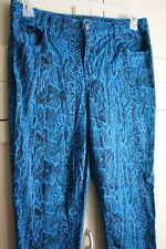 Blue and Black Snake Skin Print Style & Co Skinny Jeans Size 12