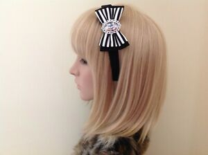 Jack skellington nightmare before Christmas headband hair bow rockabilly disney