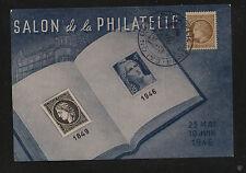 France  nice stamp show post card 1946     KL0229