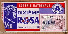 Billet de Loterie Nationale - Dixième Rosa - Eurosud - 1973
