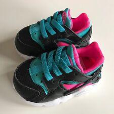 Baby's Kinderschuhe Nike Huarache Run TD Gr. 18,5 Schwarz/ Blau / Rosa Neu