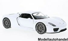 Porsche 918 Spyder Hard Top 2011 - weiss -  1:18 Welly   >>SALE<<