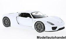 Porsche 918 Spyder Hard Top 2011 - weiss -  1:18 Welly  NEUHEIT