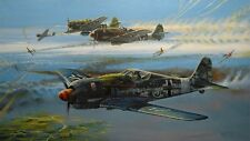 BAILEY Crossfire! Tuskegee Red Tails P-51 Mustang FW-190 Black 3 RARE SIGNATURES
