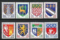 FRANCE 1962 Armoiries de villes n° 1351A à 1354B Neufs ★★ Luxe/ MNH