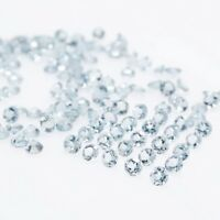Wholesale Lot of 4mm to 7mm Round Facet Natural Aquamarine Loose Calibrated Gems