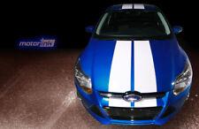 2011 2012 2013 2014 Ford Focus Sedan Hood Rear Rally Racing Double Stripes Decal