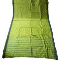 Green Saree Women Wrap Vintage Dress Sari Sewing Silk Curtain Drape Craft Fabric