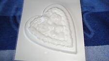 1 rustikales Herz  Gießform Seifenform