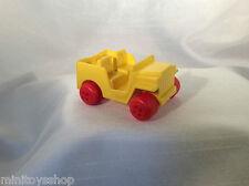 Viking Plast no. 110 Jeep Plastik Vinyl Gummi Model Auto Sweden (Yellow)
