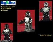 VENOM BLACK SUIT Marvel Custom Printed LEGO Minifigure with Custom OOZIES Guns