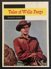 Vintage 1958 Topps TV WESTERNS card #60 RUGGED RIDER (3) combined ship