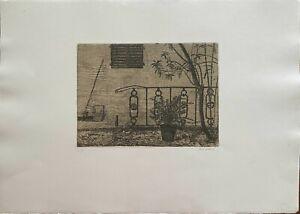 Gianni Cacciarini incisione acquaforte Giardino 70x50 firmata numerata