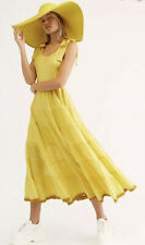 NEW Free People Kikia's Yellow Maxi Dress Size Large Sundress