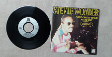 "VINYLE 45T 7"" SP MUSIQUE / STEVIE WONDER ""I JUST CALLED TO SAY I LOVE YOU"" 1984"