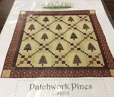 """BUNNY HILL DESIGNS QUILT PATTERN # 1075 """"PATCHWORK PINES"""""""