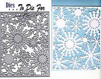 Dies ... to die for metal cutting craft die Snowflake background plate
