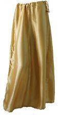 New Gold Designer satin Sari  saree Petticoat Underskirt Innerwear USA SHiPPING