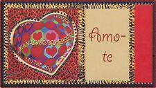 2006 FRANCE N°3861A** PERSONNALISE coeur Scherrer  LOGO Je t'aime en Portugais