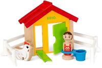 Brio MY HOME TOWN FARM HEN HOUSE Wooden Toy Vehicle BN