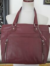 Great American Leather Works Women's Burgundy Leather Hobo Shoulder Bag Purse