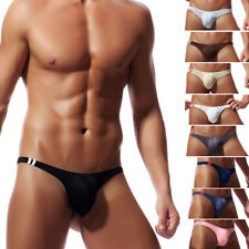 Sexy/Sissy Mens Low Rise Bikini Thong Underwear Briefs G-string Underpants Swims
