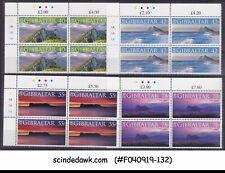 GIBRALTAR - 2007 PANORAMIC VIEWS OF GIBRALTAR - TRAFFIC LIGHT BLK-4 4V MNH