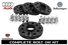 5x100 / 5x112 Wheel Spacers Kit 20mm Thick 57.1mm Bore With Extended Lug Bolts
