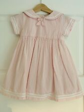 Jojomama Bebe Baby Girls Striped Pink Dress