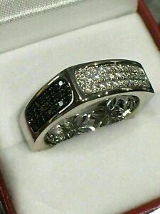 Modernist Engagement & Wedding Unique Men's Ring 14K White Gold 3.15 Ct Diamond