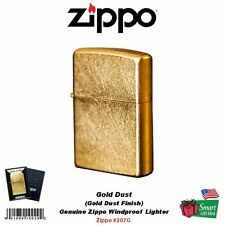 Zippo Gold Dust Lighter, Street Finish, USA Genuine Windproof #207G
