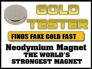 NEW Rare Earth Neodymium Testing Magnet Pure  Silver Solid Gold Coins Tester.