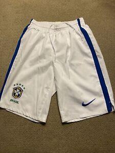 Mens Nike Brasil Brazil Lined Soccer Shorts Small S White Futbol