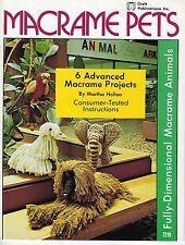 Macrame Pets Book Animals Instructions Patterns Elephant Parrot Mallard Dog 7218